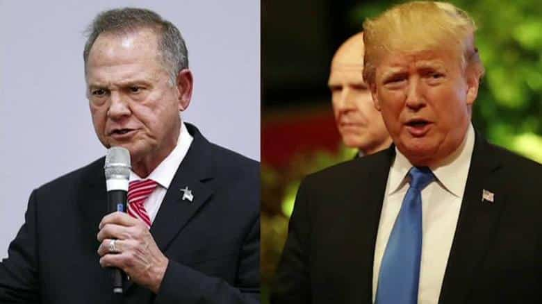 President Trump endorses Moore, but is Alabama on board?