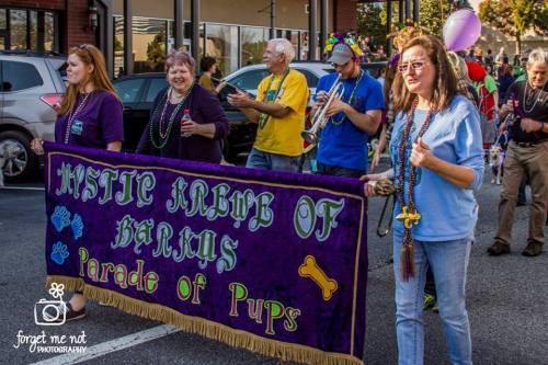 mardi gras dog parade