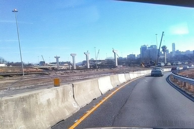 Birmingham, Alabama, 20/59, traffic, roadwork, bridge