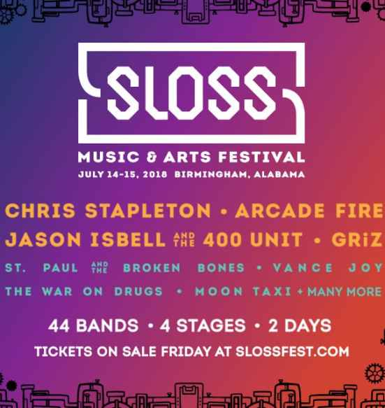 Birminhgam, Sloss Fest, Sloss Fest 2018, Sloss Music and Arts Festival, music, art