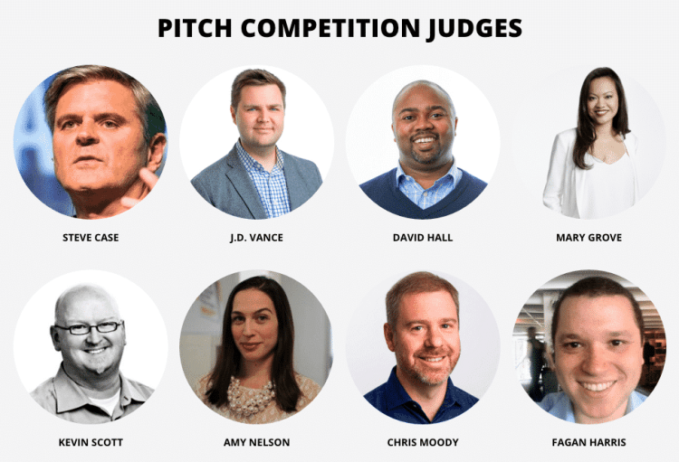 Birmingham, Rise of the Rest, Rise of the Rest bus tour, Rise of the Rest pitch competition judges, Rise of the Rest judges, Rise of the Rest competition, Steve Case, J.D. Vance