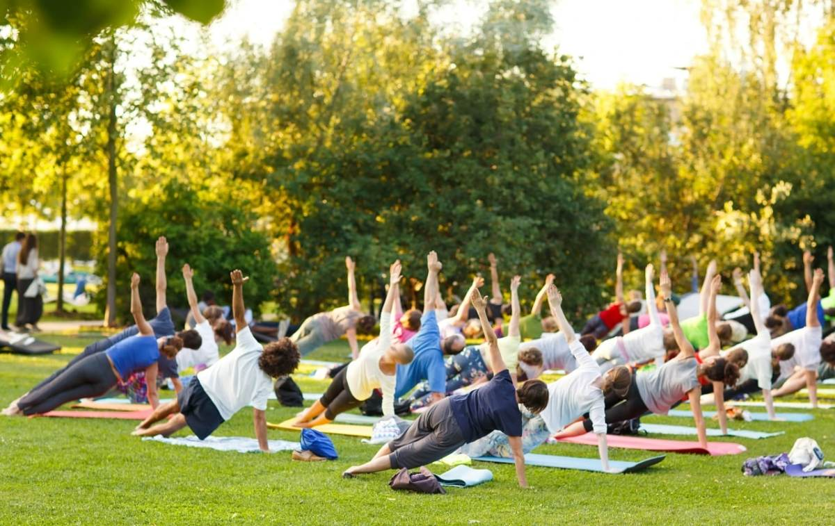 Relax! Regions Tradition's Yoga on the Green has been moved to Saturday, May 19, 5:30pm