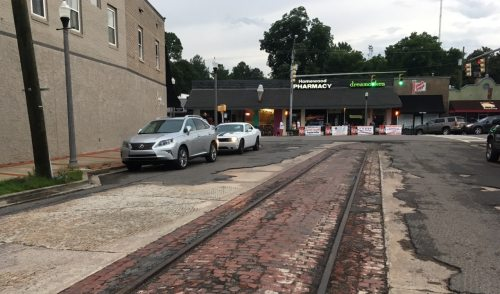 Homewood trolley tracks