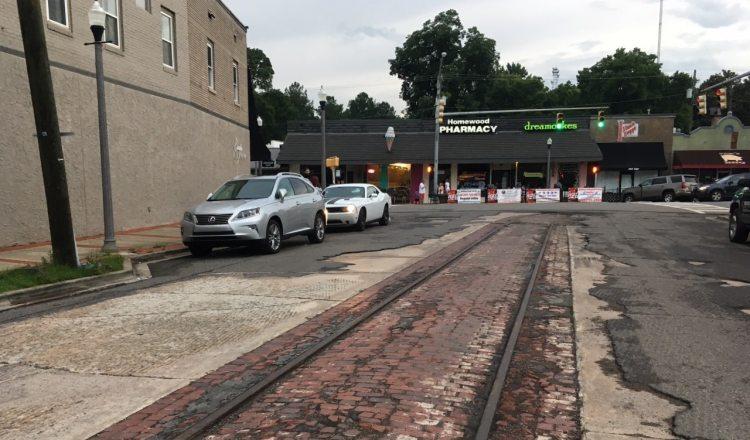 Homewood trolley tracks
