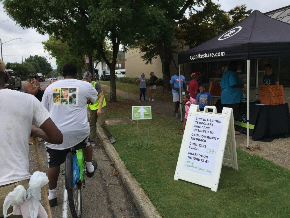 Connecting Birmingham's Smithfield and Titusville neighborhoods via bike lane explored by Zyp Bikeshare