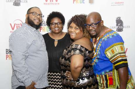 Christopher McCummings, Rhonda Lee, Amy Robinson, Tony Walker at the Opening Banquet for Bham Black Pride. Photo Courtesy via Tony Walker