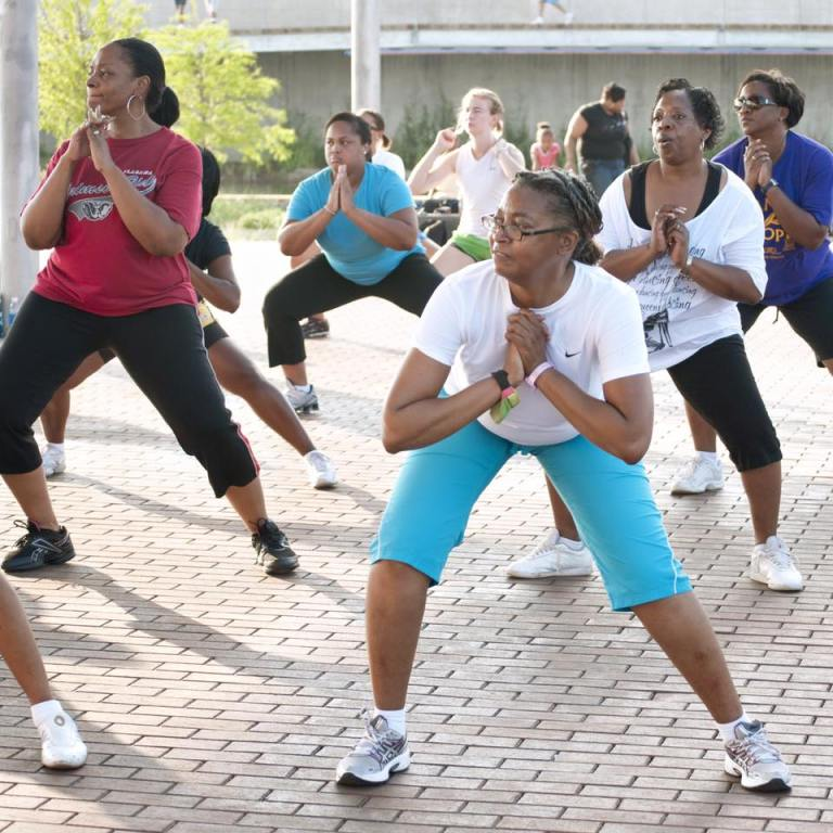 Exercise classes at RR Park