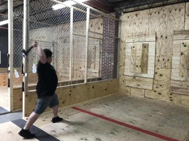 Birmingham, Alabama, new recreational activities, Civil Axe Throwing