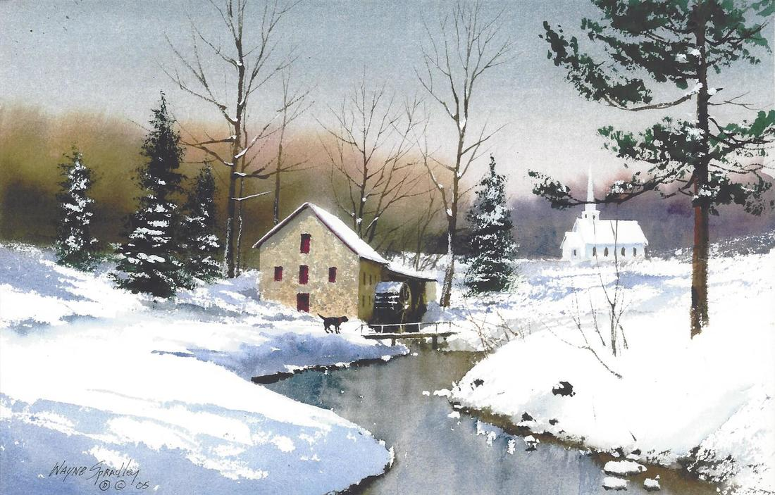 Watercolor Holiday Cards with Wayne Spradley