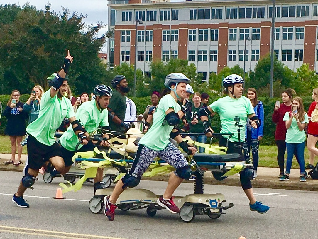 Most exciting 35 seconds in sports, the UAB Homecoming Gurney Derby