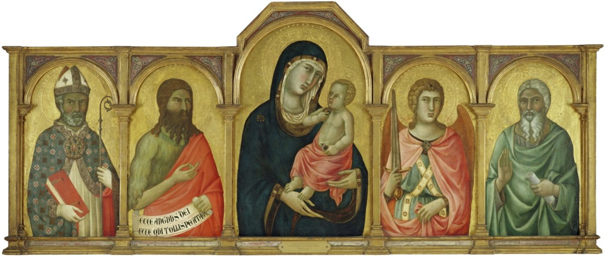 Madonna and Christ Child with Saint John the Baptist, Saint Michael and an Unidentified Saint