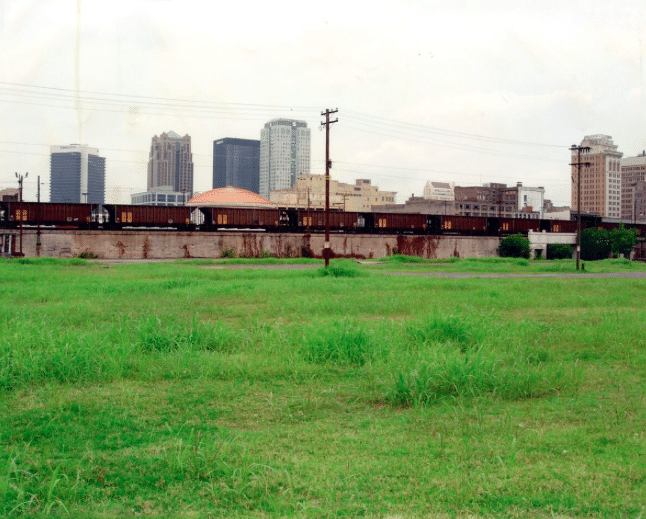 Railroad Park before it was a park