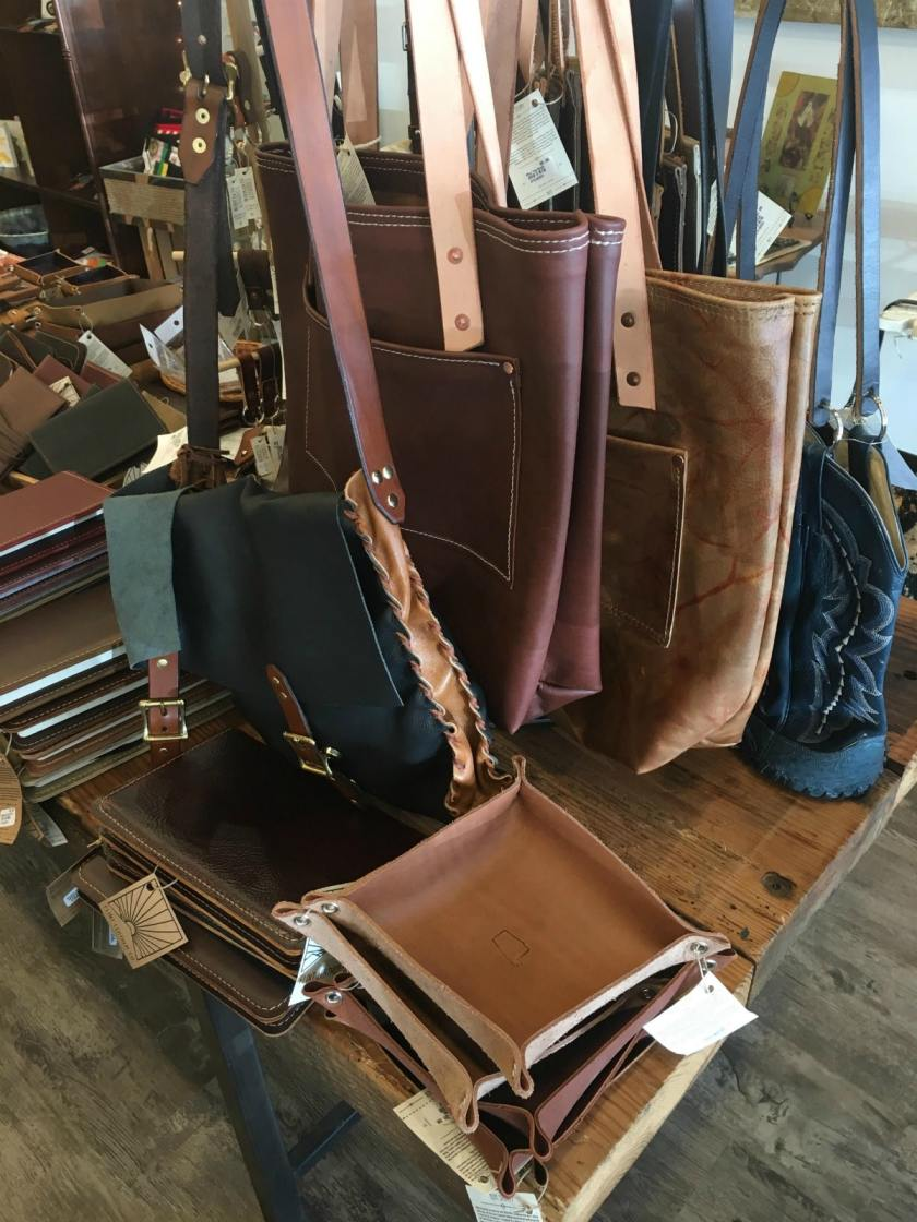 Flint Leather Company is one of the many Birmingham makers featured at Alabama Goods in Homewood. They have great choices for holiday gifts.
