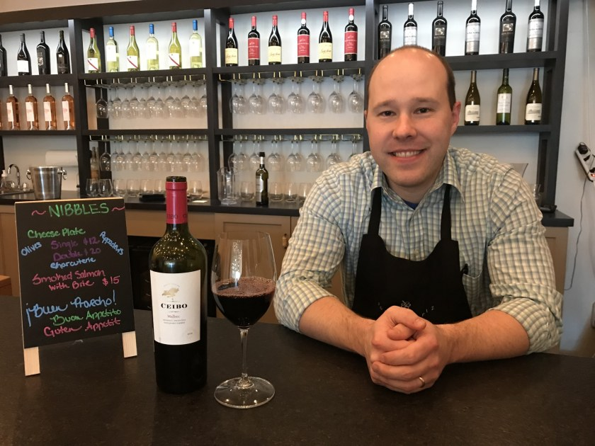 Josh Terrell, owner of Classic Wine Co. in Homewood. (Photo by Terri Robertson for Bham Now)