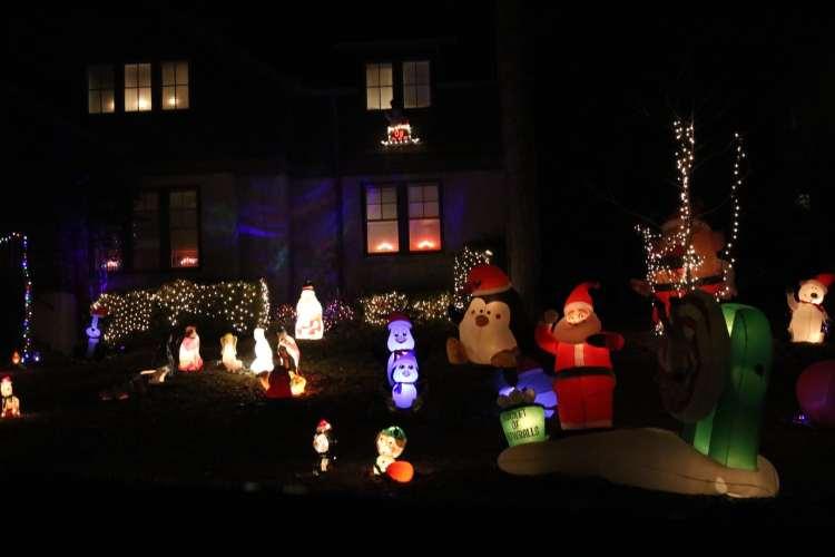 Birmingham, Homewood, Christmas, Driver's Way, Christmas decorations, Christmas lights, light displays