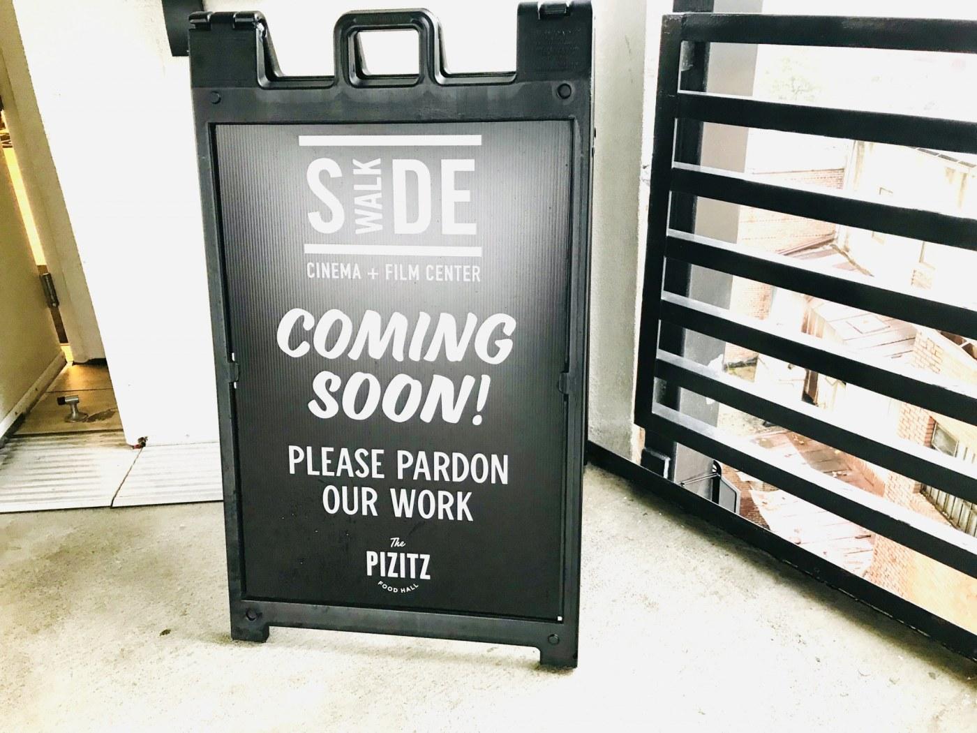 Sidewalk Cinema is coming soon! (Photo by Lauren Bedford for Bham Now)