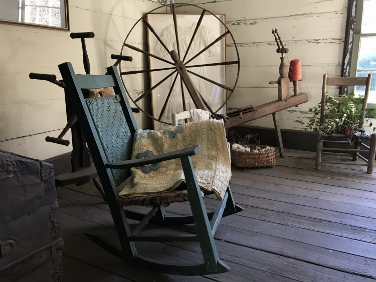 Bessemer, McCalla, Alabama, Eastern Valley Road, West Jefferson County Historical Society, Christmas Heritage Tour, Pioneer Homes, McAdory House, rocking chair, spinning wheel