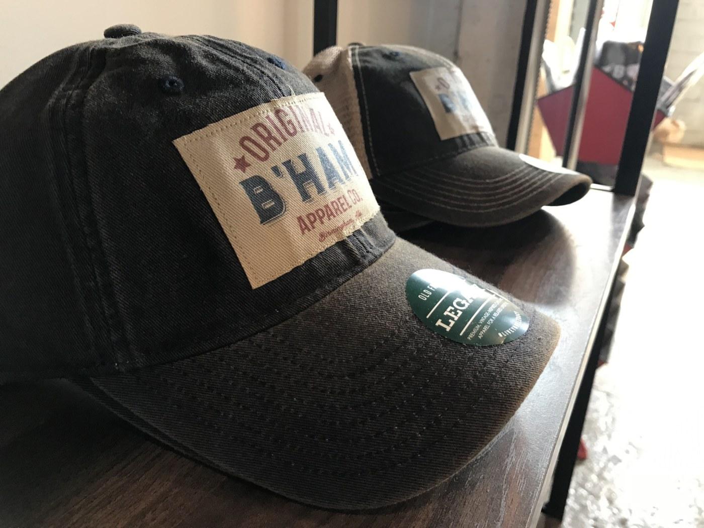 Birmingham, Alabama, Original Bham, The Battery, hats, baseball caps