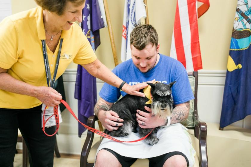 With Animal-Assisted Therapy, Hand in Paw brings comfort to veterans