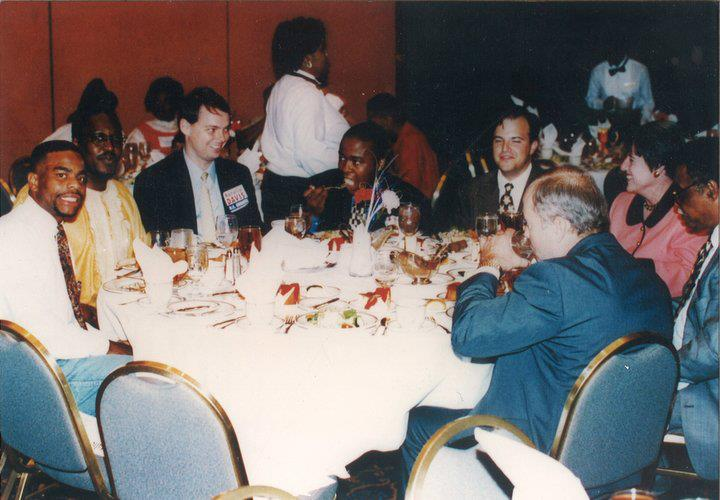 Giles and Democratic party colleagues in the mid-1990s.