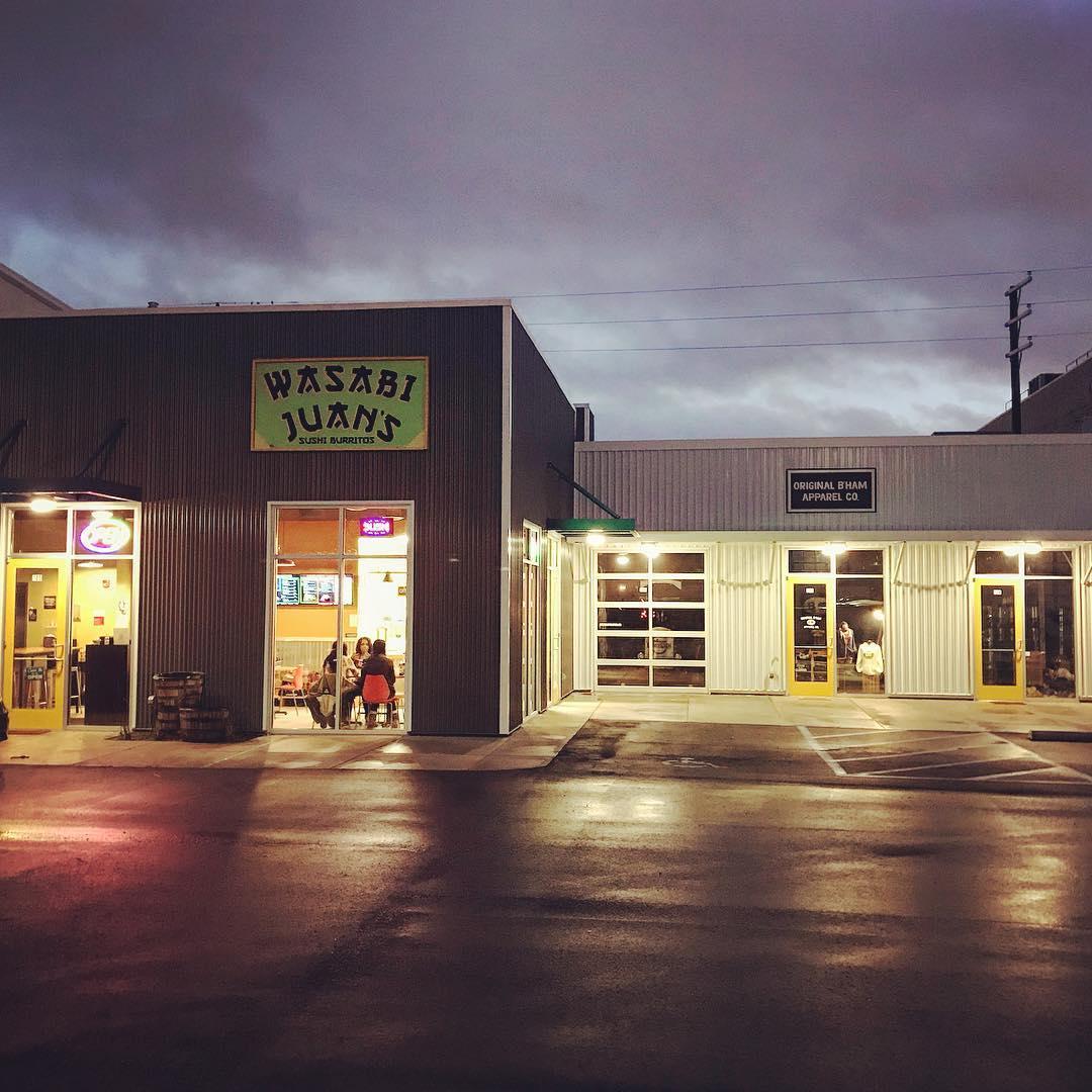 Birmingham, Alabama, The Battery, find Wasabi Juan's