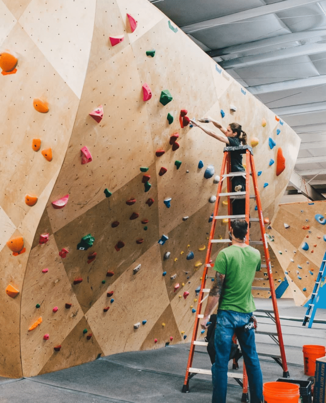 Amanda Maze is one of the women climbers in Birmingham. She's the head route-setter for First Avenue Rocks and Birmingham Boulders.