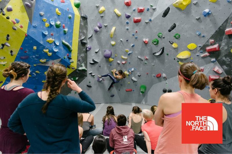 Women climbers in Birmingham gather at the Big Rad Ladies' Night at High Point Climbing and Fitness Birmingham.