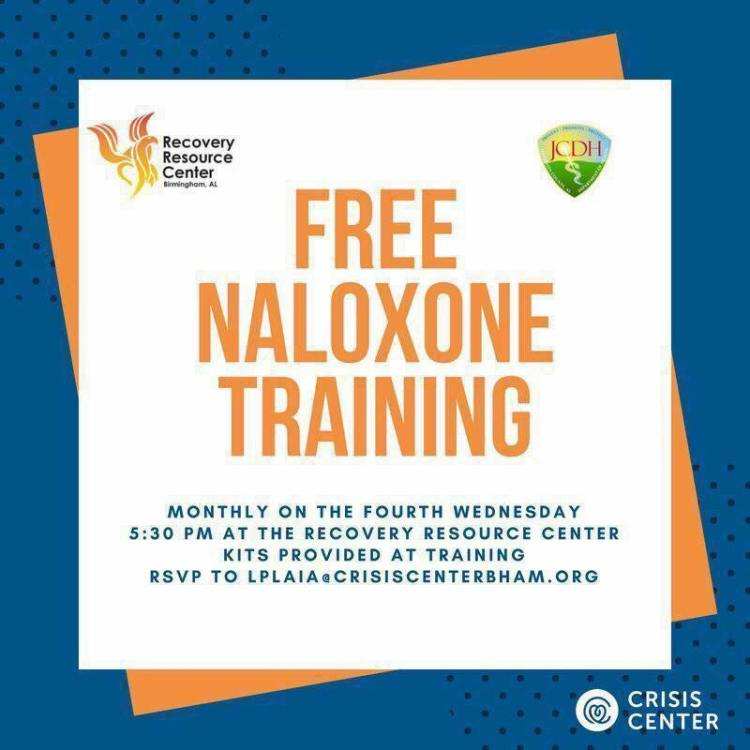 opioid addiction in Birmingham: naloxone training