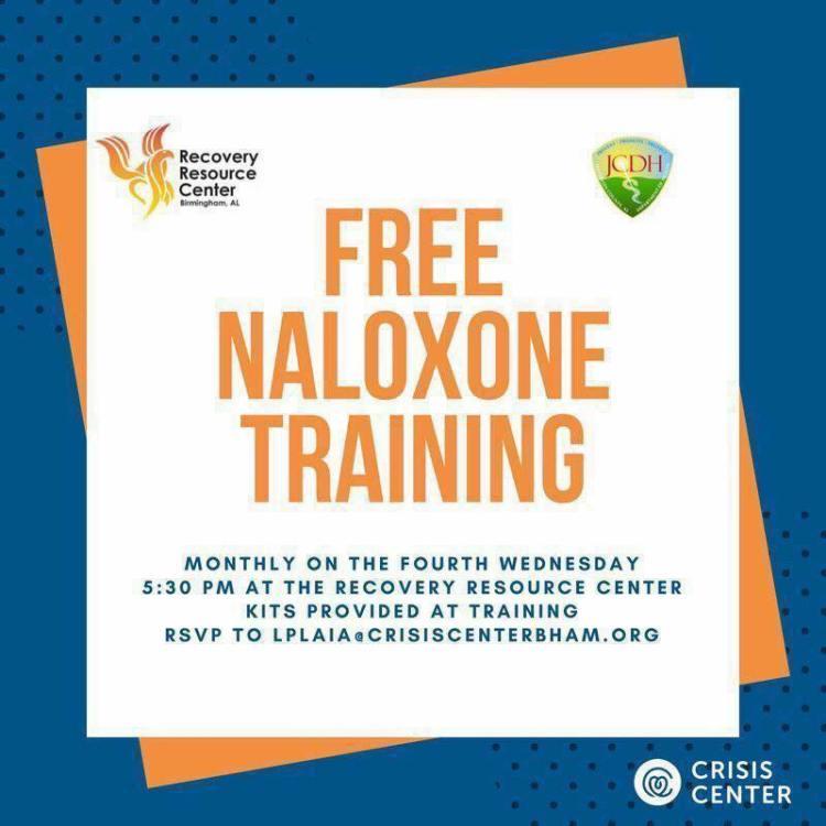 opioid addiction in Birmingham: naloxone training