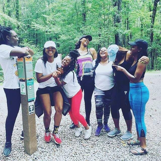 Birmingham, Alabama, Red Mountain Park, hikers, gravel