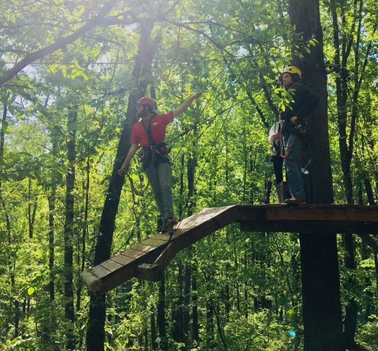 Birmingham, Alabama, Red Mountain Park, zip line