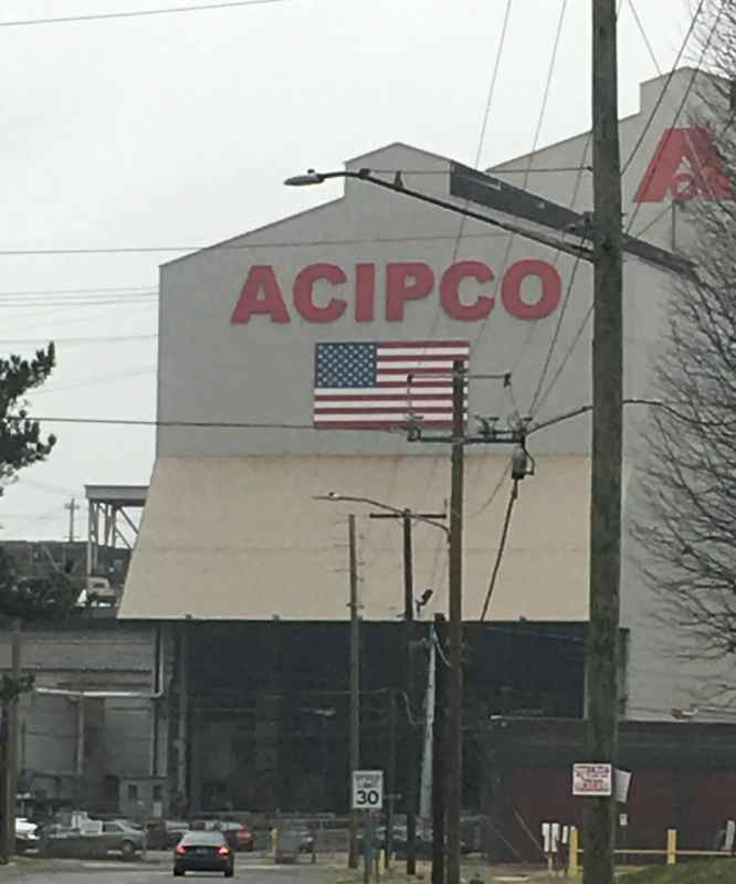 ACIPCO is one of the few thriving industries remaining in North Birmingham.
