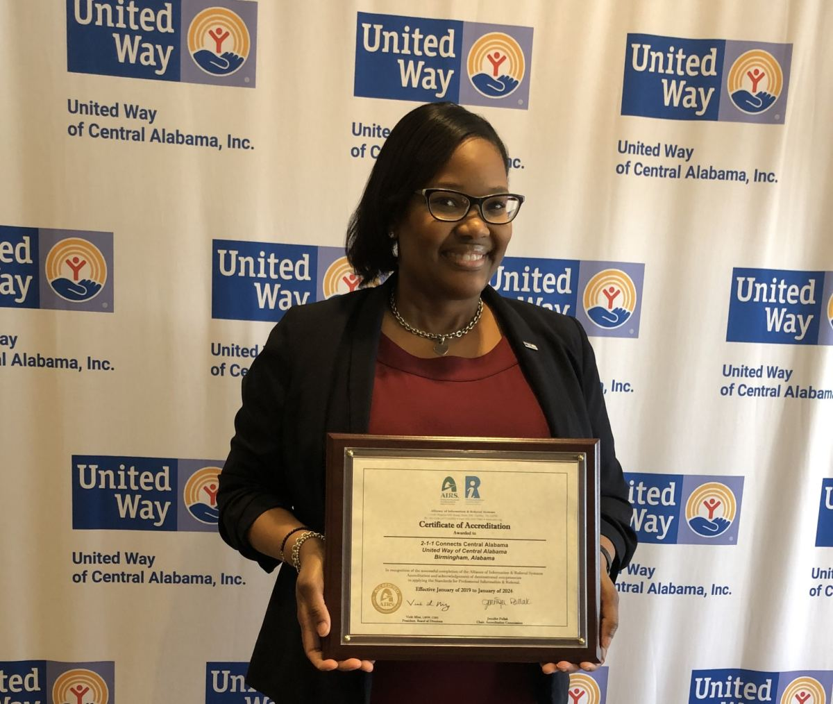 United Way's 2-1-1 Call Center celebrates AIRS Accreditation on 2-1-1 Day