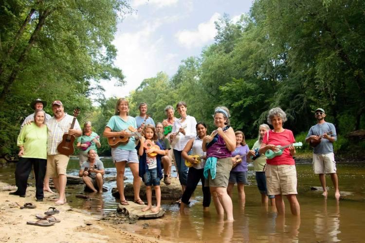 Kim Waites with her Common Ground Community family.