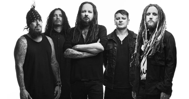 Korn is headed to Oak Mountain Aphatheatre with co-headliner Alice in Chains Tuesday, July 23. (Photo via Korn promotion)