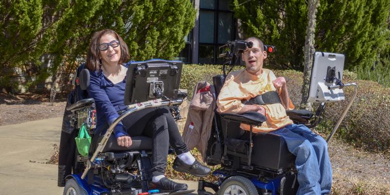 Belinda Dorough and Daniel Creech enjoying the United Ability garden