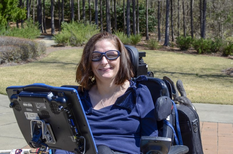 Belinda Dorough enjoying the United Ability garden
