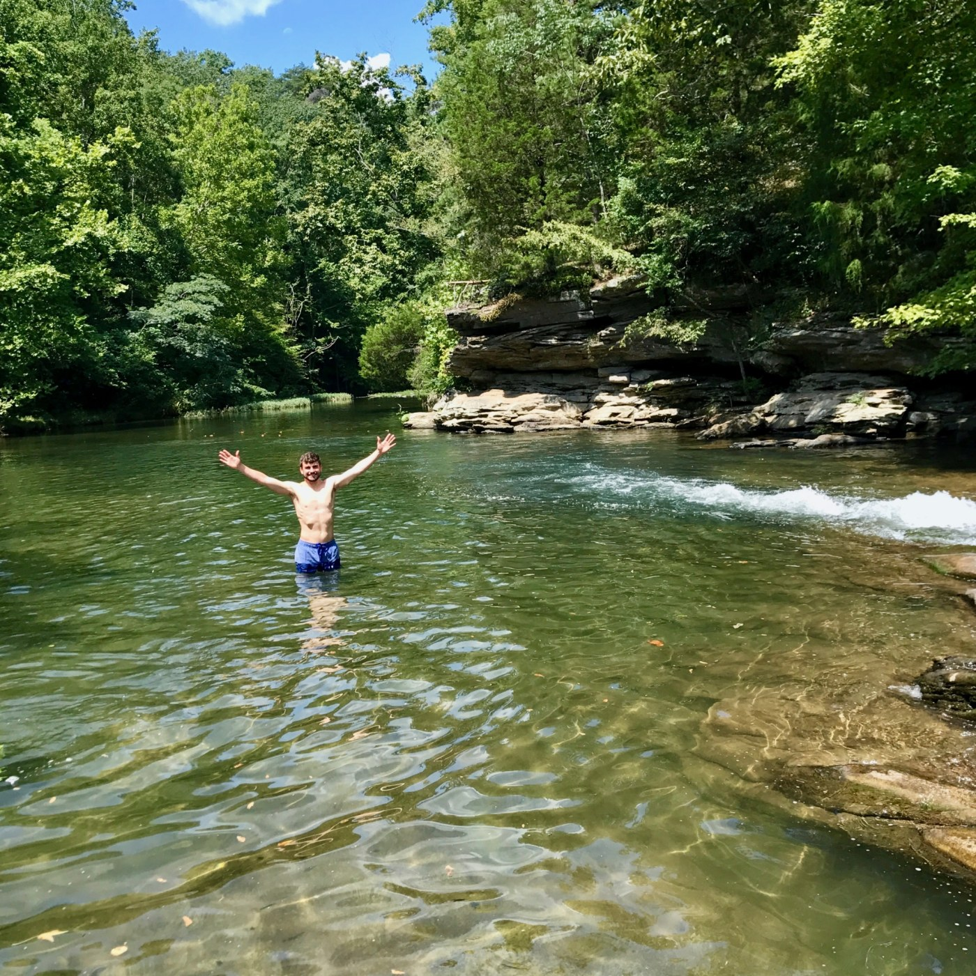 If traveling is out of the question, head over to Turkey Creek Nature Preserve in Pinson, Ala. for some fly fishing, hiking and swimming (Brr.) Photo by Christine Hull