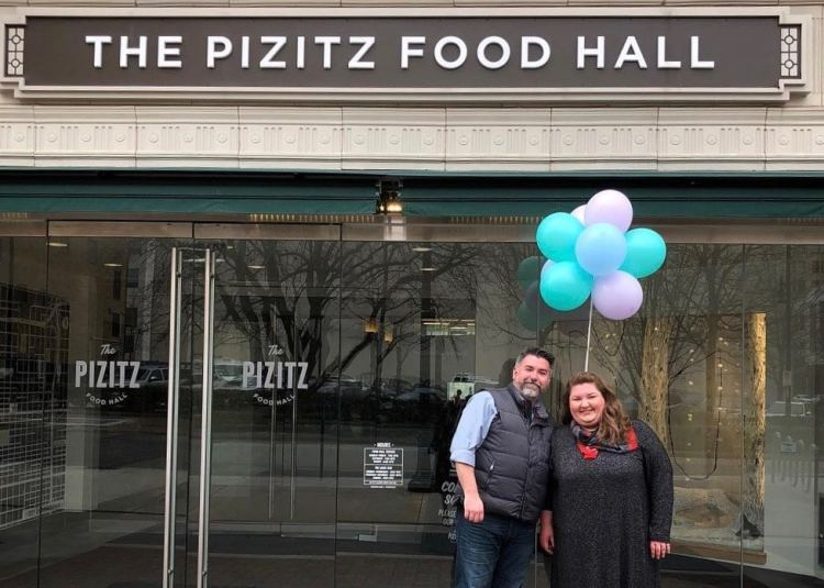 Owners Wayne and Cassie Bolden at their new upcoming location at the Pizitz Food Hall. (Photo via BCC Facebook)