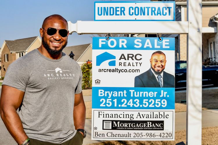 Bryant Turner Jr. at one of his recent properties under contract. (Photo by Christine Hull for Bham Now)