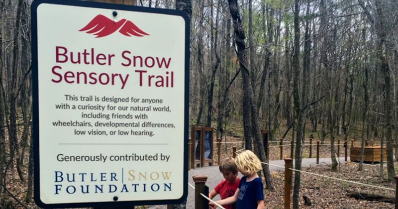 Red Mountain Park's Butler Snow Sensory Trail can be accessed with a special wheelchair.