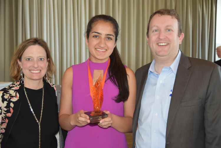 IGNITE 2018 Student Volunteer of the Year, Amrita Lakhanpal. Photo via Hands on Birmingham.