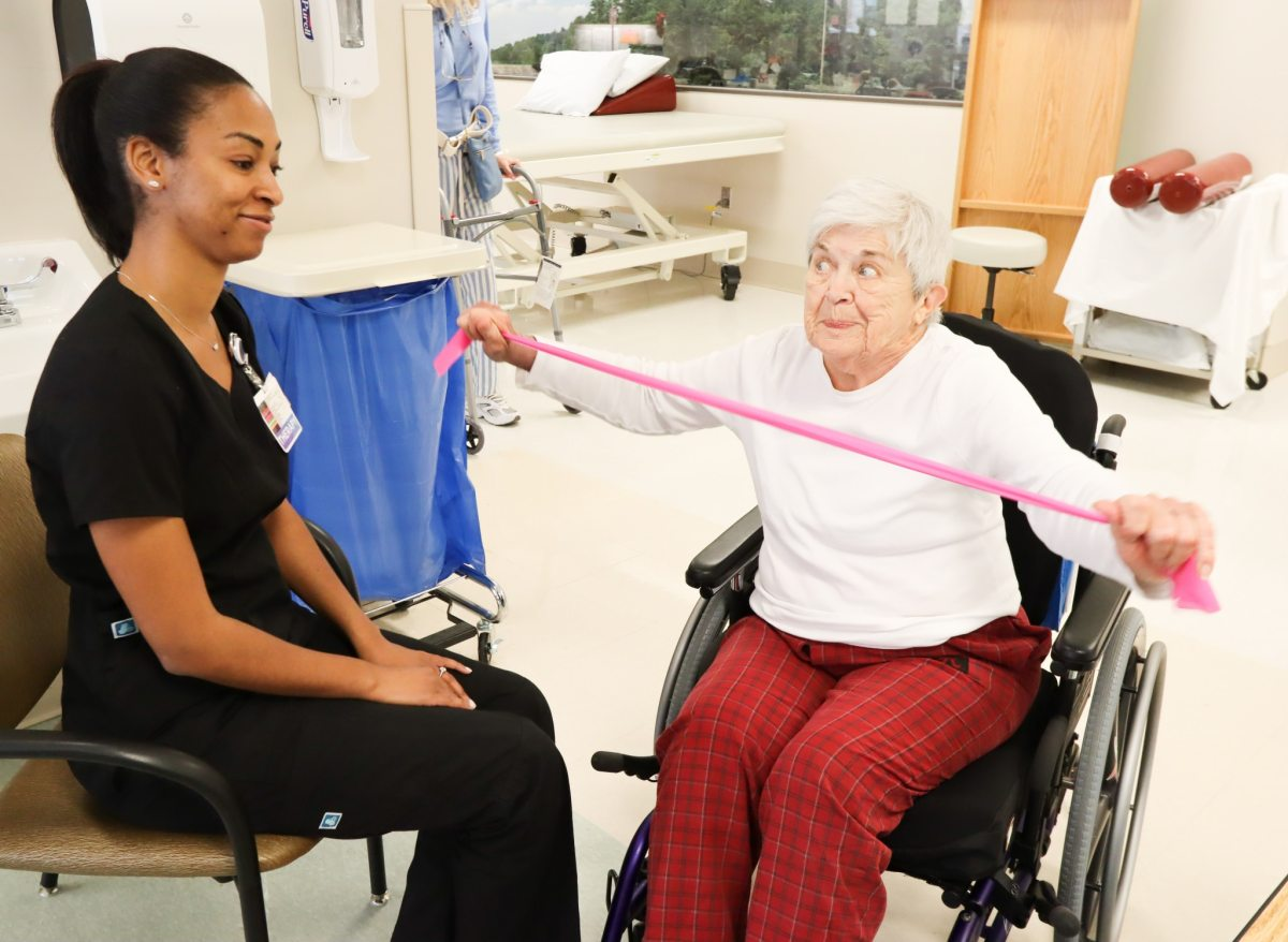 Take a look inside the Encompass Health Rehabilitation Hospital of Shelby County as they celebrate one year in Pelham