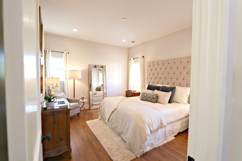 The bedrooms at Cottages on Fifth are just lovely.