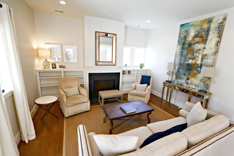 Cottages on Fifth has living rooms that are cozy and intimate. A great way to retreat from the business of the city.