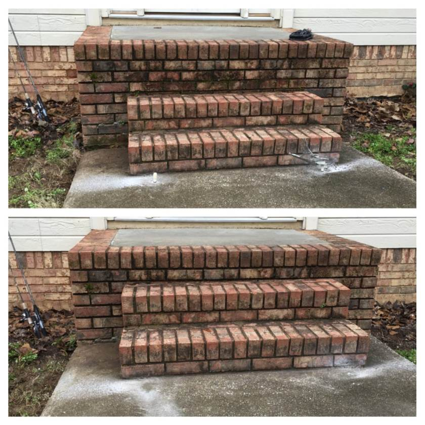 Can you see the difference in this staircase before and after shot by AFS-A Bayless Company? The second stair is raised six inches. While the difference might not look like much, it definitely does when you're going up or down the stairs