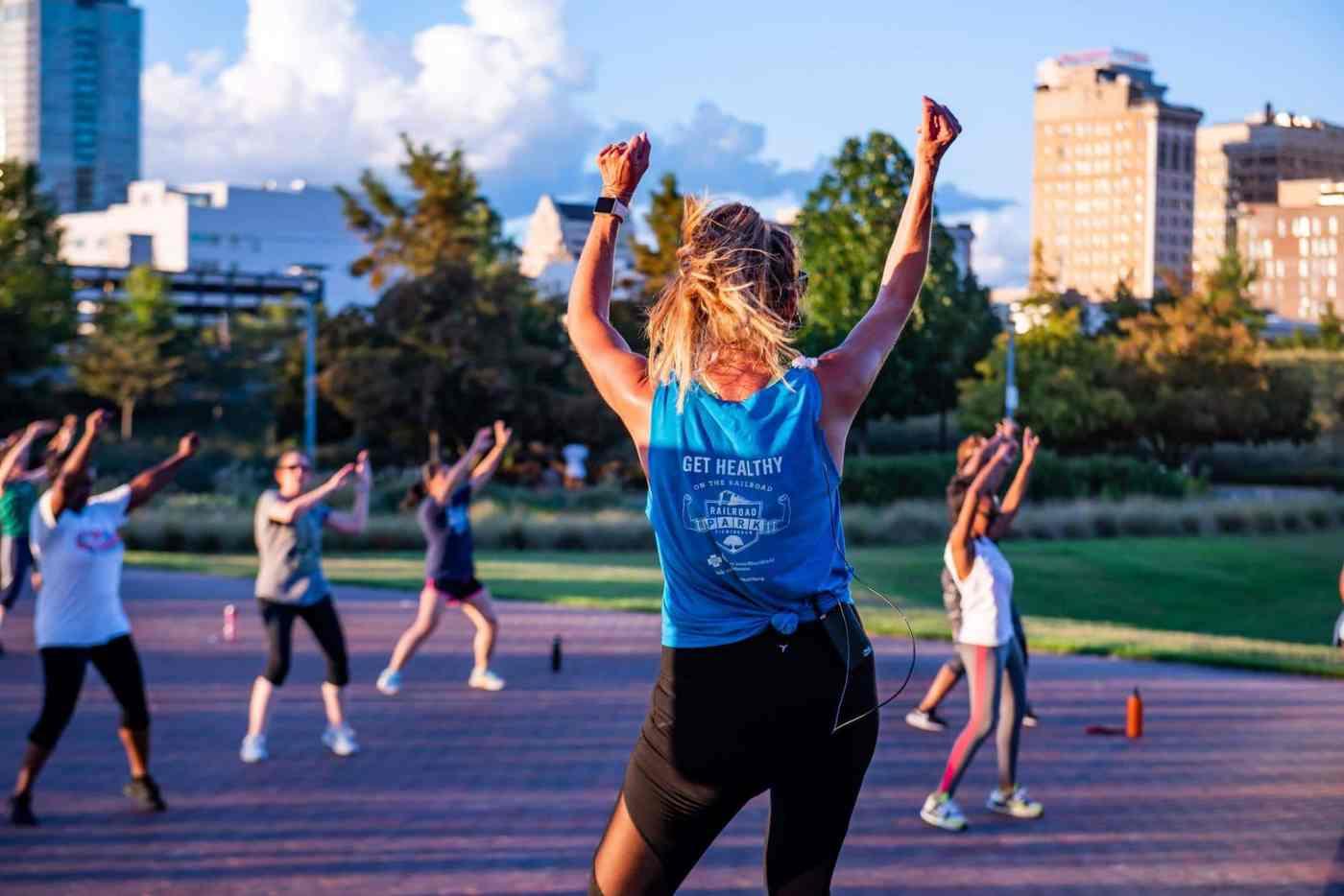 Birmingham, Railroad Park, exercise