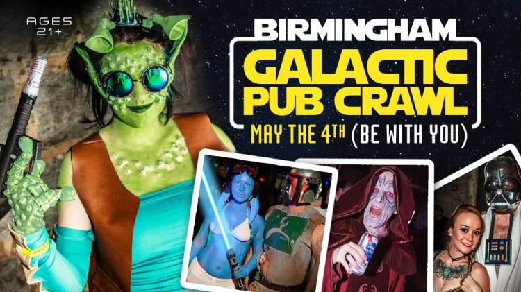 Birmingham, Birmingham Galactic Pub Crawl, May 4th, May the 4th be with you