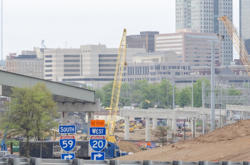 Construction on the 59/20 bridges through Birmingham is definitely making traffic through the city different in 2019.