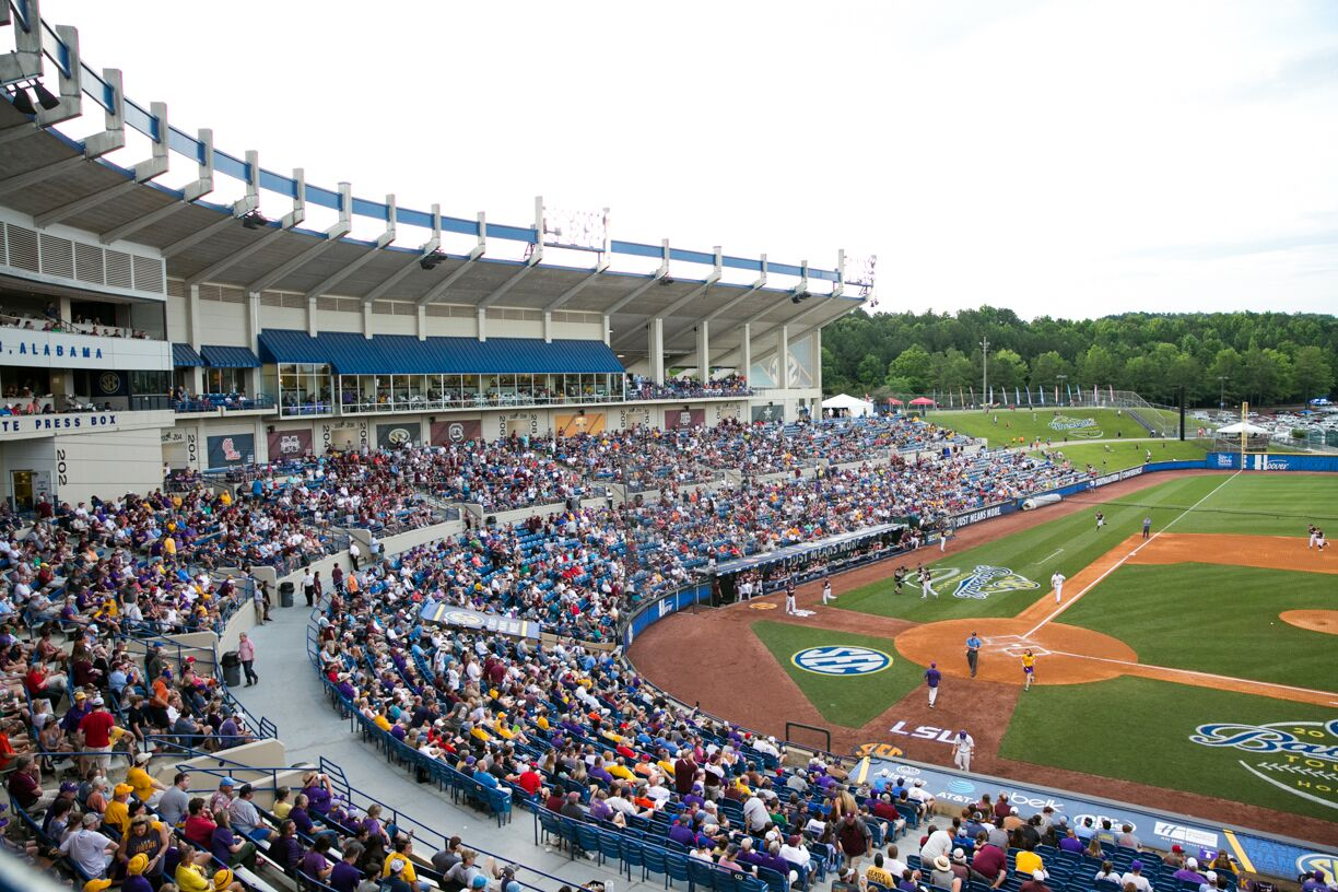 Over 144,000 people attended the SEC Baseball Tournament last year over the five day series. Photo via SEC Baseball Tournament